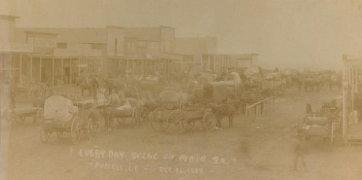 Every Day Scene on Main Street in December 1889