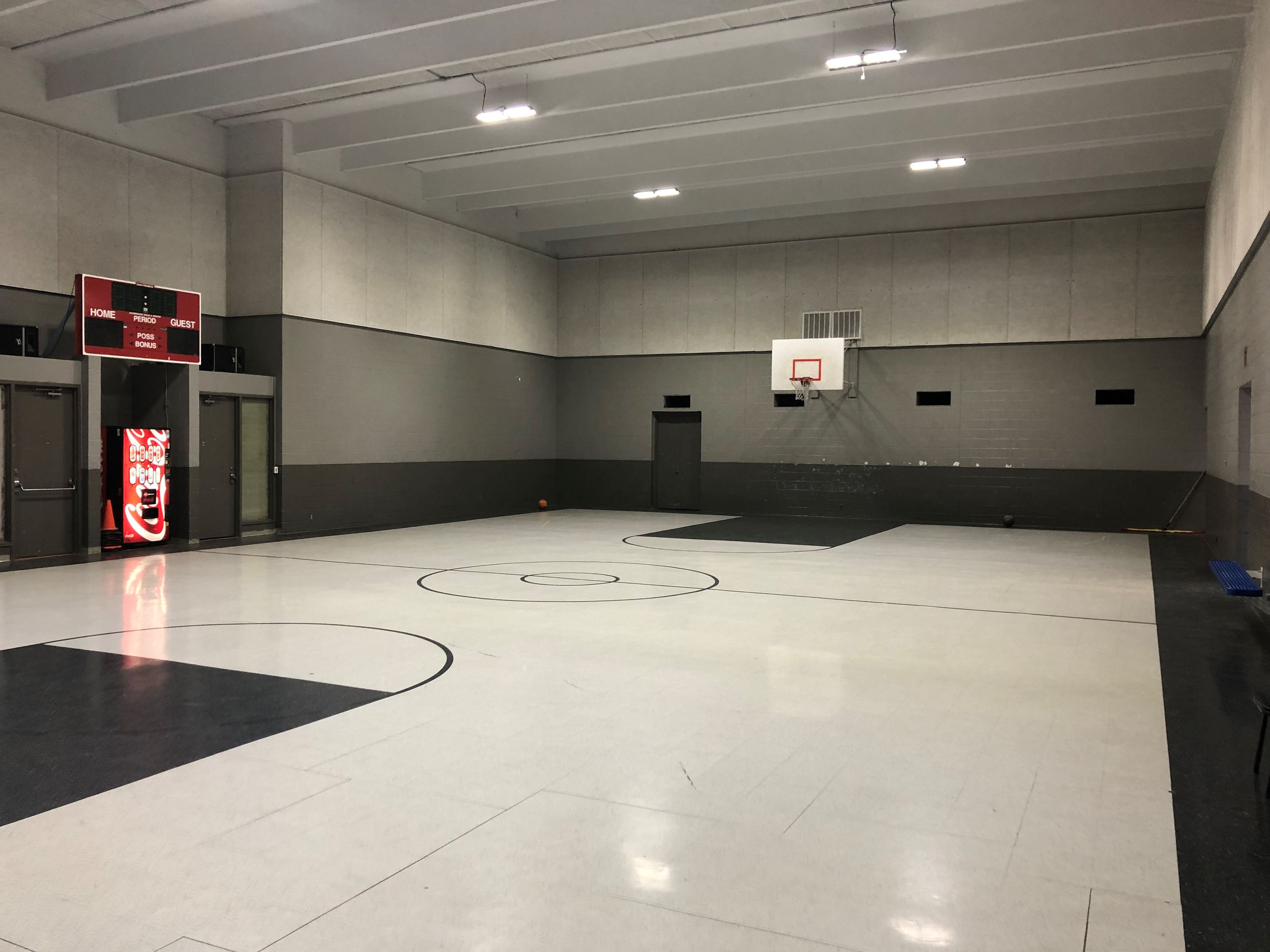 Indoor basketball gym at the Purcell Multipurpose Center
