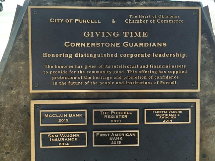 Cornerstone Guardians Plaque