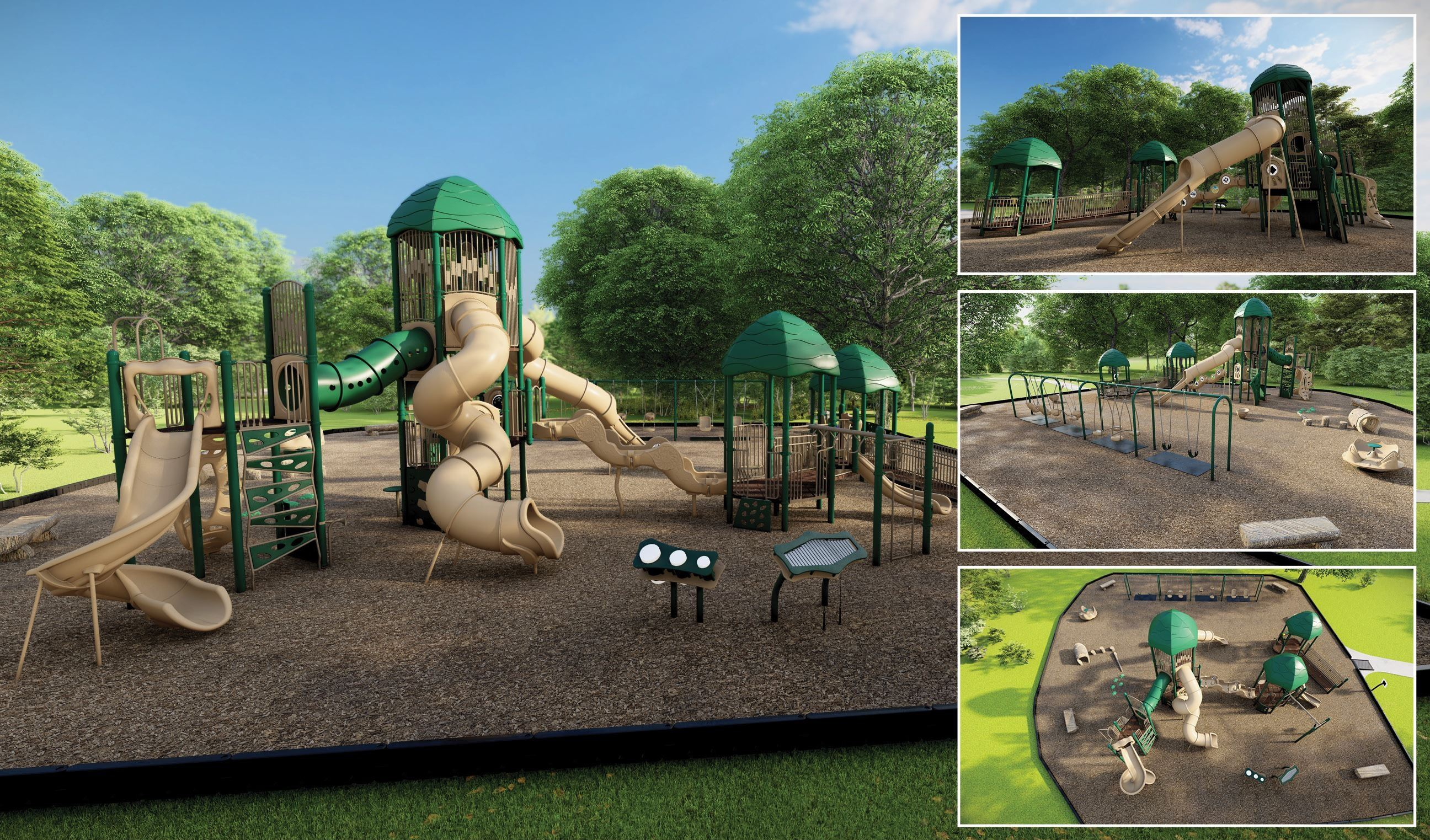 A conceptual drawing of a possible replacement for the Rotary play structure
