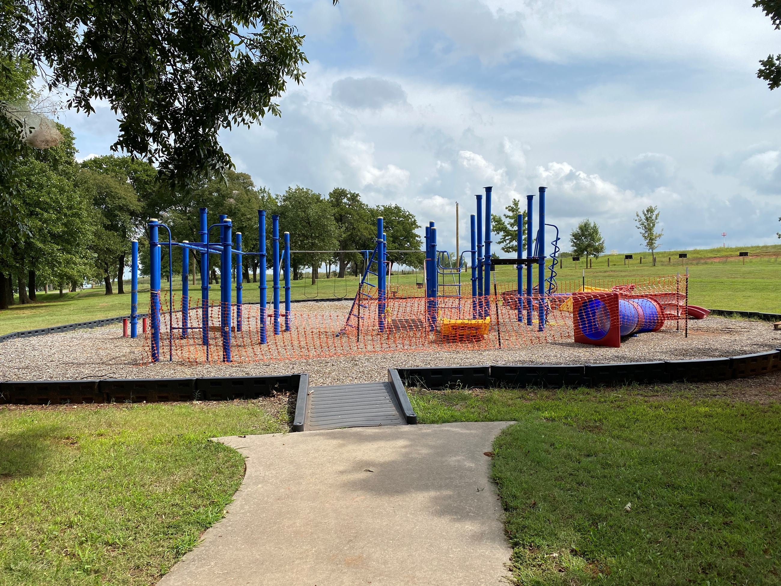 rotary play structure dismantled as of 9-2020