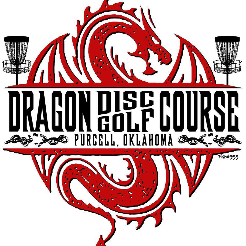 a logo for the dragon disc golf course designed by Craig Dodd